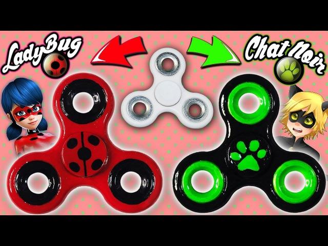♥ DIY: Crea tu Fidget Spinner de Ladybug y Chat Noir || Miraculous Ladybug ♥