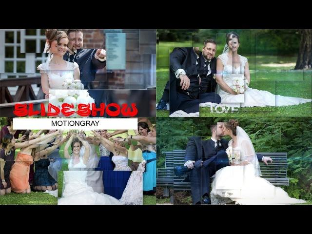 Motiongray Slideshow. Bilder animiert mit Adobe After Effects. Hochzeitsvideo von Sergej Metzger.
