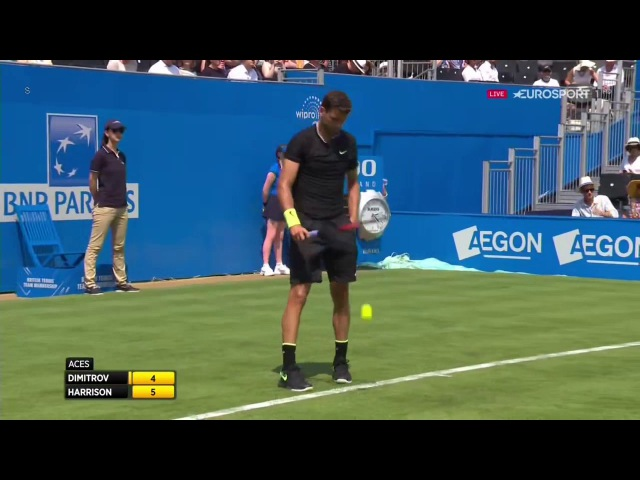 Grigor Dimitrov vs. Ryan Harrison - ''Golden Game'' (4 Aces in a row in 1 Game)