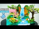 Hot Glue Waterfall mini house building Tutorial