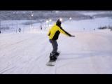 Первый раз на сноуборде (не считая того раза когда в дерево)