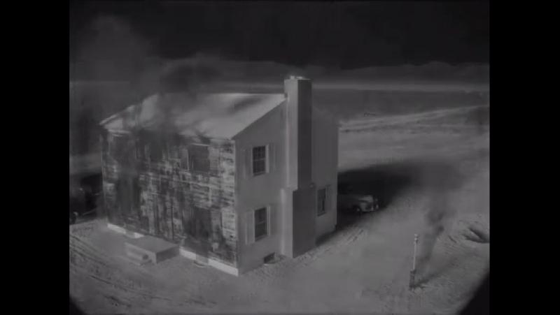 1953-cü ilə aid bir nüvə bombasının partladılması sınağı nəticəsində yox olan bina.
