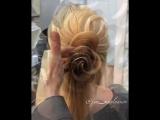 Еще один вариант розочки из волос