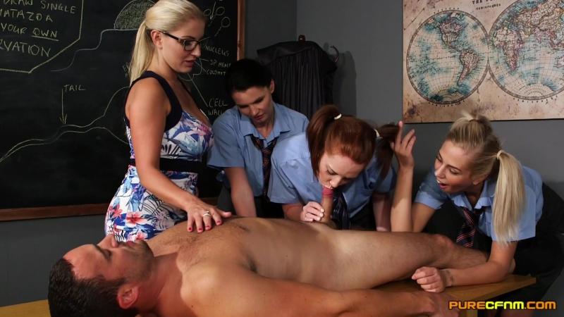 Candi Blows, Chloe Vegas, Georgie Lyall and Tasha Holz sex ed
