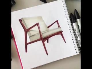 Sketch tutorial | Сhairs  by Sasha Goga