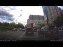 Сумасшедший на БМВ чуть не устроил лобовую аварию на улице Говорова в Одинцово