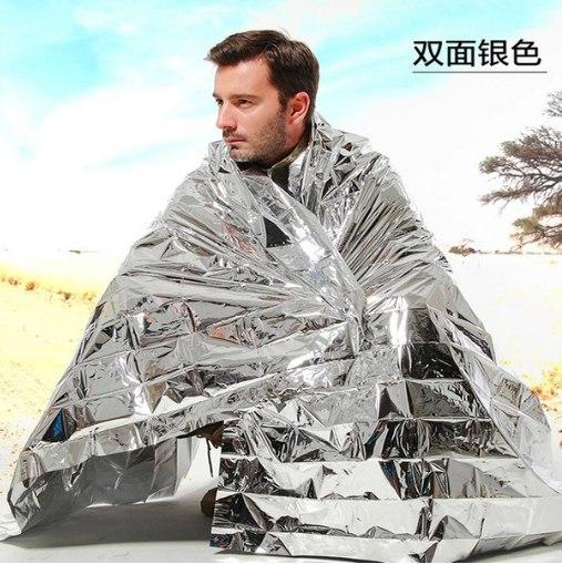 Спасательное термическое одеяло.