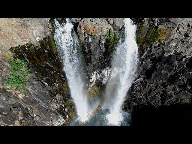 2016 07 Водопады Плато Путорана. Waterfalls of the Putorana Plateau, Russia. Phantom 3.