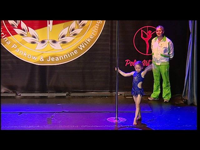 Miss Mister Pole Dance Germany 2016 - Violetta Urban - Gold - Kids 6-13