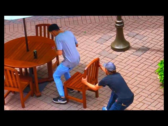 Chair Pulling Prank Part 2