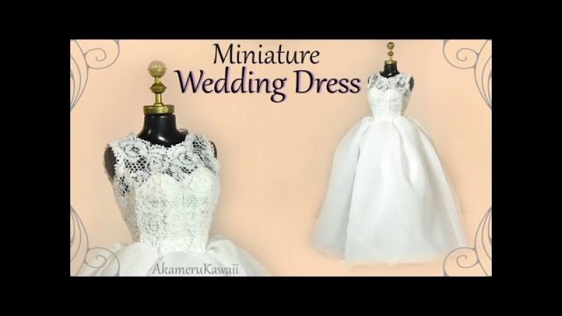 How to Mini Wedding Dress - Doll Barbie Tutorial
