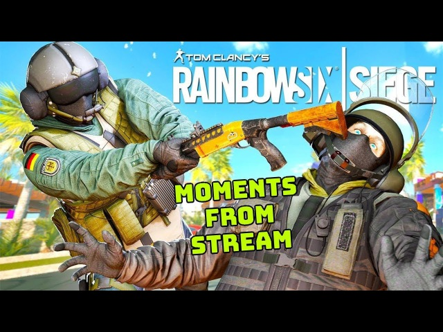 Rainbow Six Siege - Моменты со стрима 1 - balerA в смоке (funny moments)