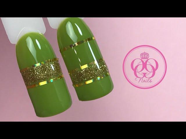 Геометрический дизайн ногтей с полосками♥Экспресс дизайн для начинающих♥ Patrisa...