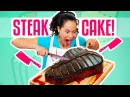 How To Make A Giant Red Velvet STEAK CAKE for Father's Day Yolanda Gampp How To Cake It