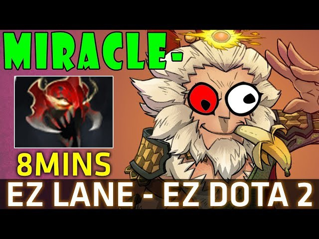 Miracle- Monkey King 7.07b - 8Mins Mask of Madness - EZ LANE EZ Dota 2