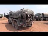 Техника военной полиции попавшая под обстрел в Идлибе