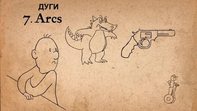 6. Замедление движения в начале и конце - 12 принципов анимации [Русская озвучка]