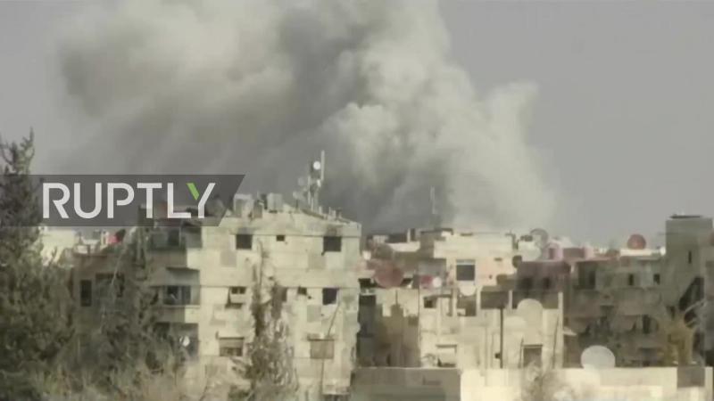 Syria: SAA battle militants at strategic base in Harasta.