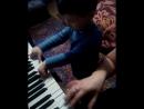 Игореша играет с мамой в четыре руки Рождество
