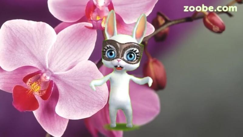 Zoobe Зайка Я хочу поздравить С днем рождения тебя