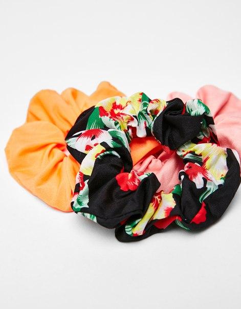 Резинки для волос с цветочным принтом