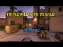 CS GO Just 3 headshot with Deagle
