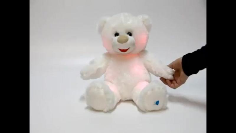 Мягкий музыкальный светильник _Лунный медвежонок_ (свет), 27 см