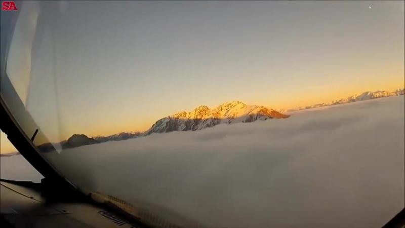 Вот Что Видят Лётчики из Кабины. Пролетая Над Новой Зеландией