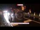 Авария тепловоза и полицейского УАЗика на жд переезде в подмосковье