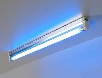Установка люминесцентных светильников