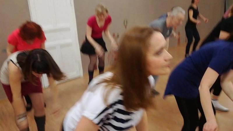 наш общий традиционный танец в конце занятия, новички 18г февраль