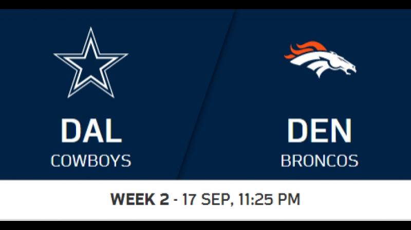 NFL 2017-2018 / Week 02 / Dallas Cowboys - Denver Broncos / 1H / 17.09.2017 / EN