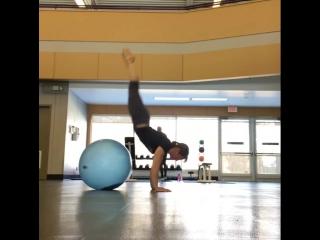 Kirsty Grosart - The traditional Winnipeg Blue Ball handstand.