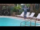 McKenzie Jumping In The Pool In Sweatshirt & Jeans!