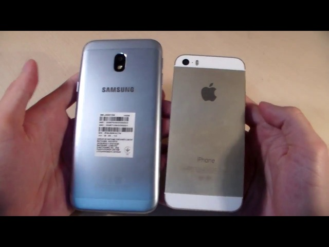 Обзор Samsung Galaxy J3 2017 vs iPhone 5S