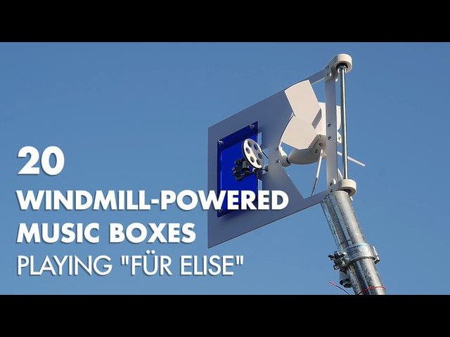 20 Windmill-powered Music Boxes playing Für Elise