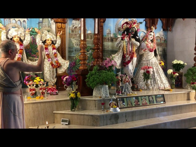 Niranjana Swami – Noon arati of Sri Sri Radha Madhava in Kiev, Ukraine – 24-Sep-2017
