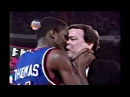 Isiah Thomas Goes Crazy After Getting Hard Foul by Bill Cartwright RARE