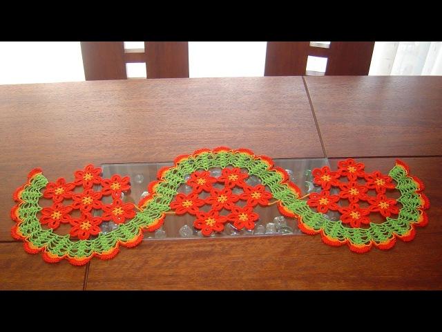 Camino de mesa de margaritas a crochet paso a paso parte 1 2
