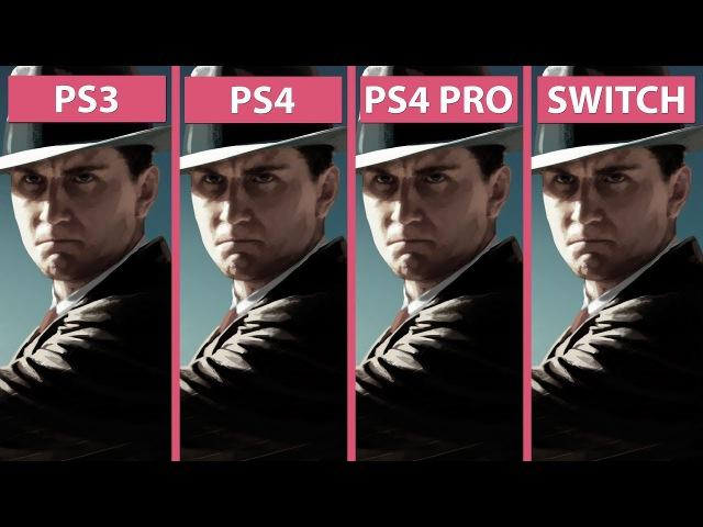 L.A. Noire – PS3 vs. PS4 vs. PS4 Pro 4K vs. Switch Graphics Comparison