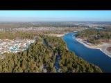Ангарск, река Китой, район деревни Старая Ясачная. Съемка на дрон DJI Spark
