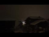 Снежная гроза в коммуне Валь-д'Изер (Альпы, Франция, 8.01.2018)