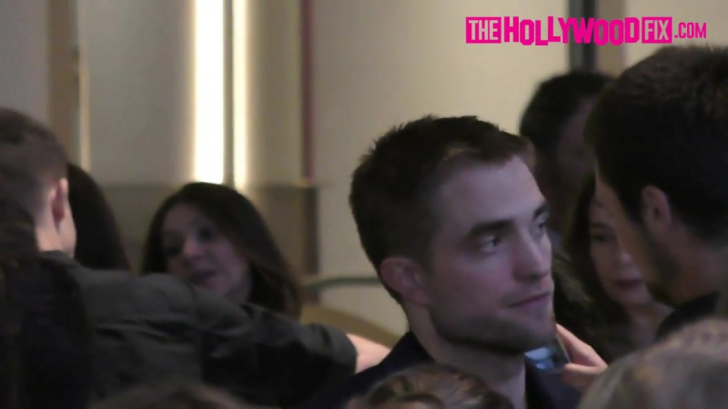 Robert Pattinson Mingles With The Crowd While Leaving A Party At NeueHouse