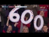Александр Овечкин забрасывает 600-ю шайбу в НХЛ