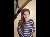 Відео привіт від Насті для Діани Артишко