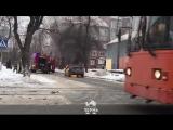 Сгорела машина такси. 14 февраля 2018. Пермь