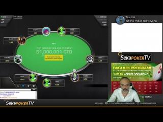 1 Milyon$ GTD MTT Turnuva'da  MAYBAHAR Final Table için oynuyor!   SekaPoker  TV
