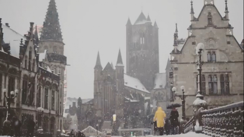 Ghent in the Snow