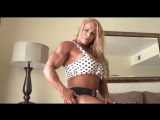 Fbb Muscle Pro Girl Aleesha Posing Privet Room