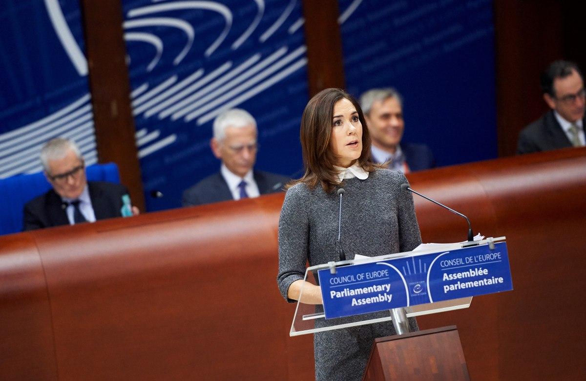 Кронпринцесса Мэри на открытии сессии Парламентской Ассамблеи Совета Европы